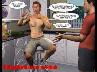 отчаянные мужья 3d бисексуалов ММФ мультфильма анимированные комиксы или хентай мультфильмов