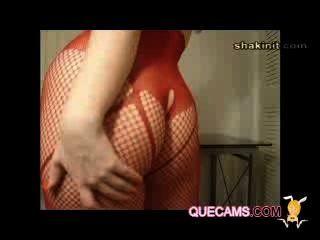 привлекательная женщина пользуется видеочат - сессии 8892