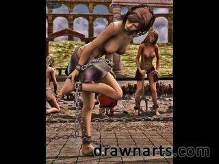Dravuor использует свои таланты 3d художественное произведение, чтобы положить красивых женщин в опасности